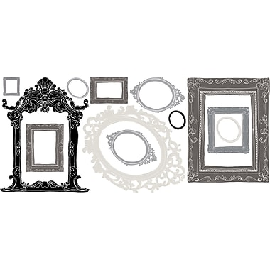 RoomMates® Metallic Black and Silver Frames Peel and Stick Wall Decal, 18in. x 40in.