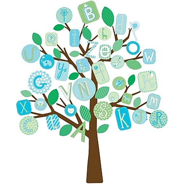 RoomMates® Blue ABC Tree Peel and Stick Giant Wall Decal, 27in. x 40in.