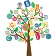 RoomMates® Primary ABC Tree Peel and Stick Giant Wall Decal, 27in. x 40in.