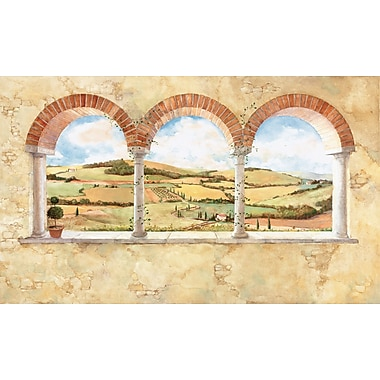RoomMates® Tuscan View Chair Rail Prepasted Wall Mural, 6 ft H x 10 1/2 ft W