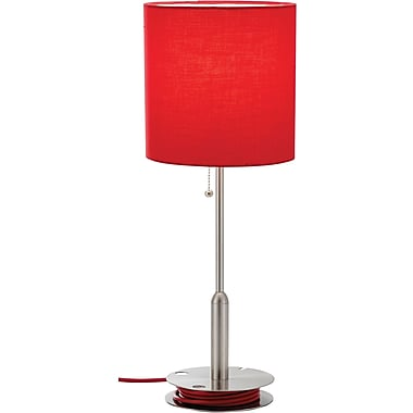 Adesso® 3022-08 Bobbin Table Lamp, 1 x 60 W, Red