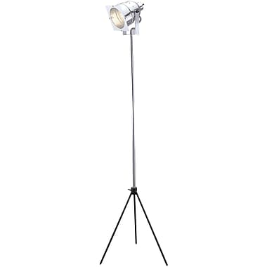Adesso® 3051-22 Spotlight Floor Lamp, 1 x 75 W, Steel/Chrome
