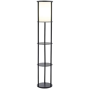 Adesso® 3117-01 Stewart Shelf Floor Lamp, 1 x 150 W, Black