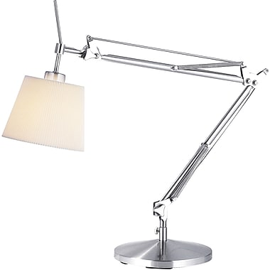 Adesso® 3155-22 Architect Table Lamp, 1 x 60 W, Satin Steel
