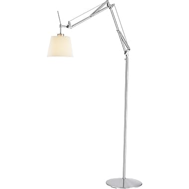 Adesso® 3156-22 Architect Floor Lamp, 1 x 60 W, Satin Steel