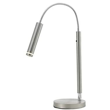 Adesso® 3170-22 Eos LED Desk Lamp, 1 x 7.2 W, Satin Steel/Chrome