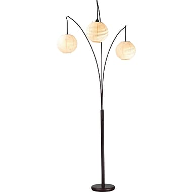 Adesso® 4101-26 Spheres Arc Lamp, 3 x 60 W, Antique bronze