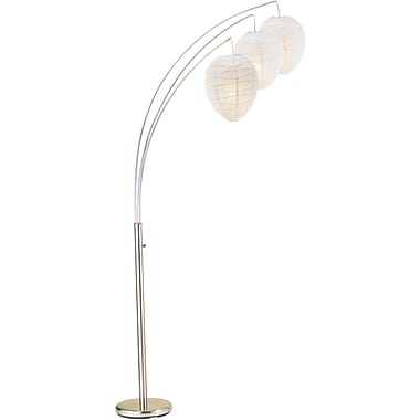 Adesso® 4108-22 Belle Arc Lamp, 3 x 60 W, Satin Steel