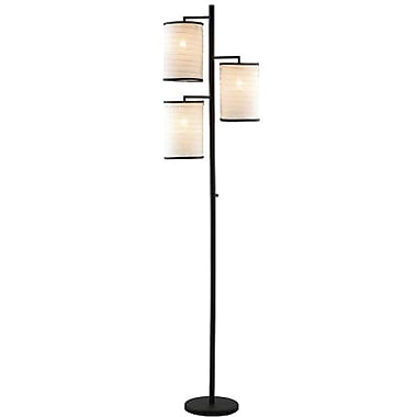 Adesso® 4152-26 Bellows Tree Lamp, 3 x 60 W, Antique Bronze
