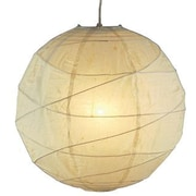 Adesso® 4160-12 Orb Small Pendant, 1 x 60 W, Natural