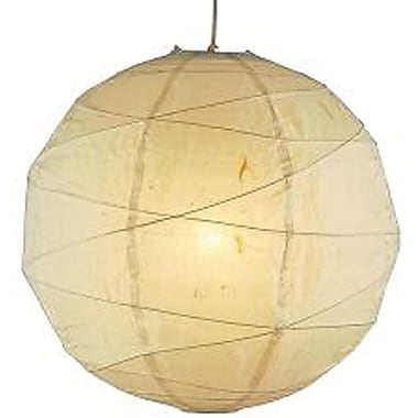 Adesso® 4161-12 Orb Medium Pendant, 1 x 100 W, Natural