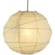 Adesso® 4162-12 Orb Large Pendant, 1 x 100 W, Natural