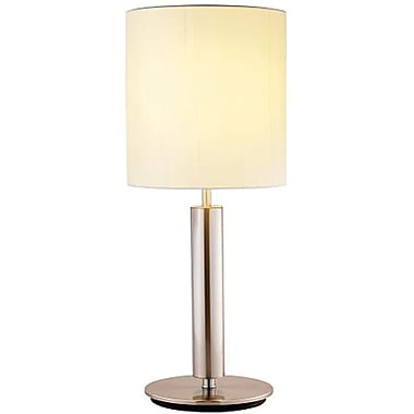 Adesso® 4173-22 Hollywood Table Lamp, 1 x 100 W, Satin Nickel/Chrome