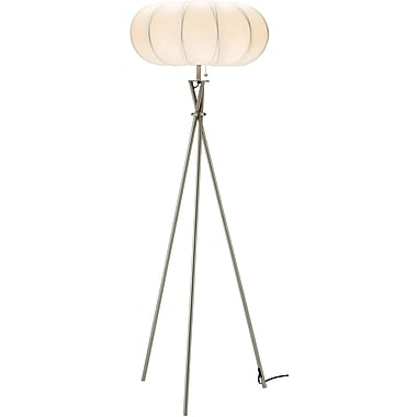 Adesso® 4245-22 Cloud Floor Lamp, 1 x 150 W, Satin Steel