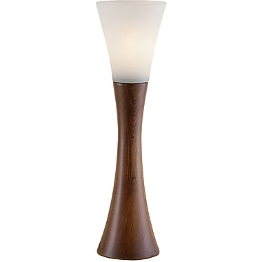 Adesso® 3200-15 Espresso Table Lantern, 1 x 60 W, Walnut