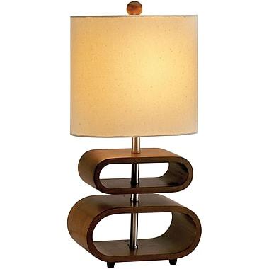 Adesso® 3202-15 Rhythm Table Lamp, 1 x 60 W, Walnut