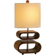 Adesso® 3202-15 Rhythm Table Lamp, 1 x 60 W, Walnut