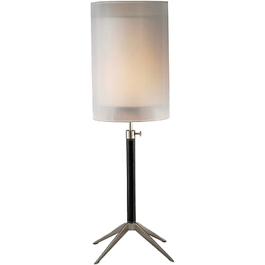 Adesso® 3310-01 Santa Cruz Table Lamp, 1 x 60 W, Black/Steel