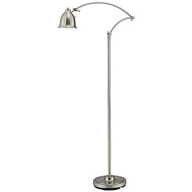 Adesso® 5086-22 Graham LED Floor Lamp, 1 x 5 W, Satin Steel