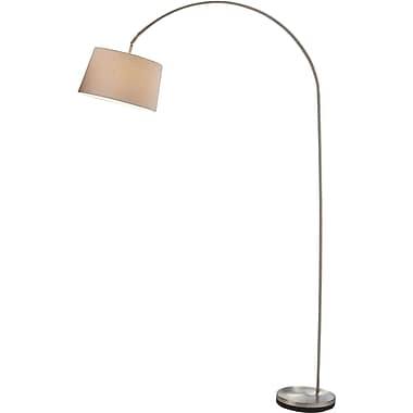 Adesso® 5098-22 Goliath Arc Lamp, 1 x 150 W, Satin Steel
