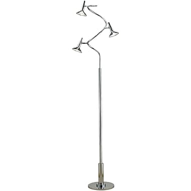 Adesso® 5125-22 Radar Spiral Floor Lamp, 1 x 5 W, Chrome