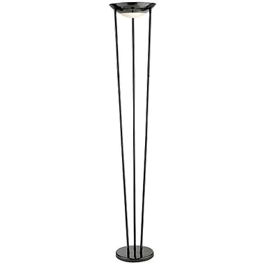 Adesso® 5233-01 Odyssey Tall Floor Lamp, 2 x 150 W, Black Nickel
