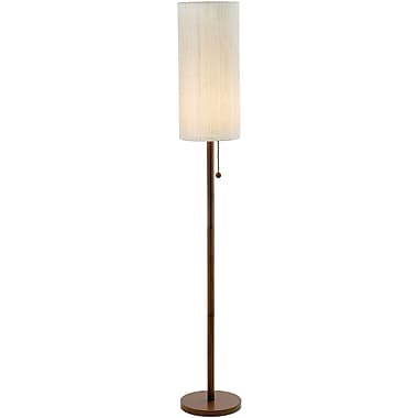Adesso® 3338-15 Hamptons Floor Lamp, 1 x 100 W, Walnut