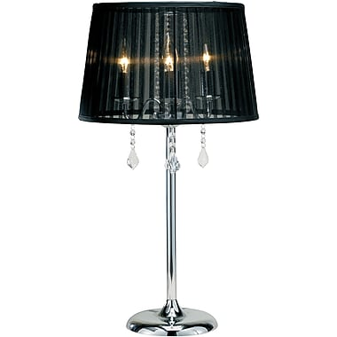 Adesso® 3356-22 Cabaret Table Lamp, 3 x 40 W, Chrome