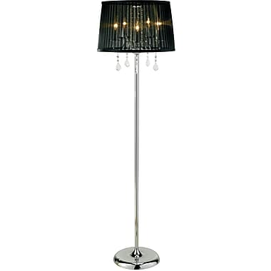 Adesso® 3357-22 Cabaret Floor Lamp, 5 x 40 W, Chrome