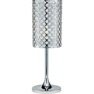Adesso® 3360-22 Glitz Table Lamp, 1 x 100 W, Chrome