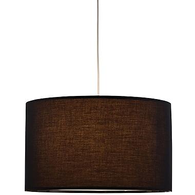Adesso® 6020-01 Timpani Pendant, 1 x 100 W, Black