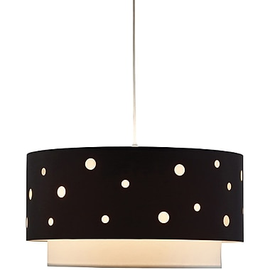 Adesso® 6022-01 Starlight Pendant, 1 x 100 W, Black/White
