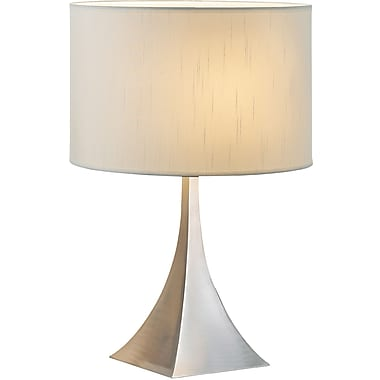 Adesso® 6363-22 Luxor Table Lamp, 1 x 100 W, Satin Nickel/Chrome