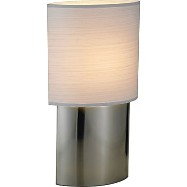 Adesso® 6420-22 Sophia Table Lamp, 1 x 60 W, Satin Nickel/Chrome