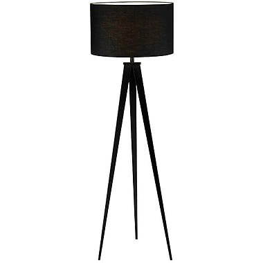 Adesso® 6424-01 Director Floor Lamp, 1 x 150 W, Black