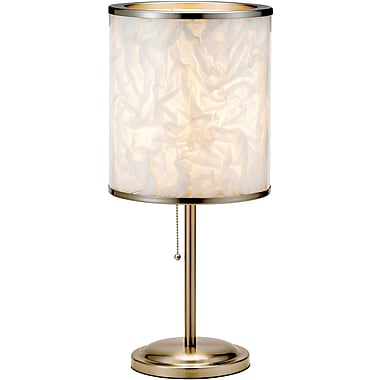 Adesso® 8003-22 Papyrus Table Lamp, 1 x 60 W, Satin Steel
