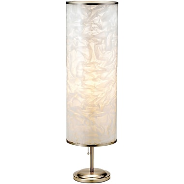 Adesso® 8004-22 Papyrus Tall Table Lamp, 1 x 60 W, Satin Steel
