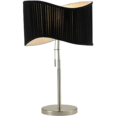 Adesso® 3605-22 Symphony Table Lamp, 1 x 60 W, Satin Nickel/Chrome