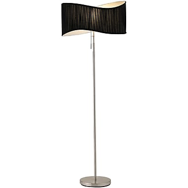 Adesso® 3606-22 Symphony Floor Lamp, 1 x 100 W, Satin Steel