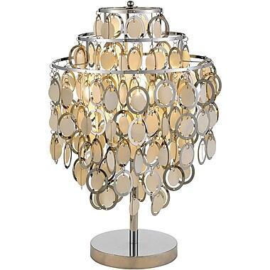 Adesso® 3636-22 Shimmy Table Lamp, 1 x 60 W, Satin Nickel/Chrome