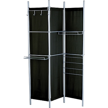 Adesso® HX1114-01 Hang It Up Folding Screen, Black/Steel