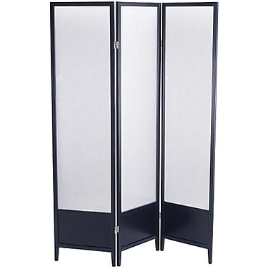 Adesso® WK2020-01 Toronto Folding Screen, Black
