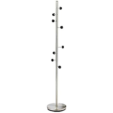 Adesso® WK2030-22 Swizzle Coat Rack, Satin Steel