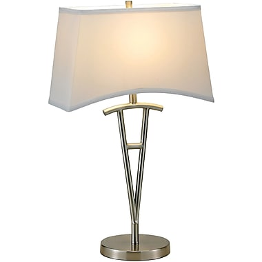 Adesso® 3656-22 Taylor Table Lamp, 1 x 100 W, Satin Steel