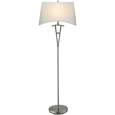 Adesso® 3657-22 Taylor Floor Lamp, 1 x 150 W, Satin Steel