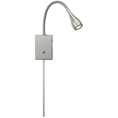 Adesso® 3661-22 Seek LED Wall Light, 1 x 3 W, Satin Steel