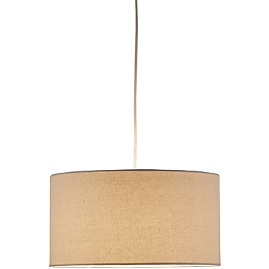 Adesso® 4001-12 Harvest Drum Pendant, 1 x 150 W, Natural