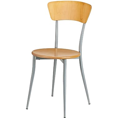 Adesso® WK2880-01 Cafe Chair, Natural Wood/Steel