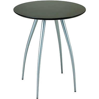 Adesso® WK2880-01 Cafe Bistro Table, Black/Steel