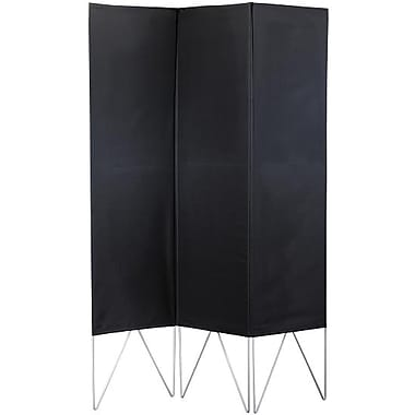 Adesso® WK3800-01 Vector Folding Screen, Black